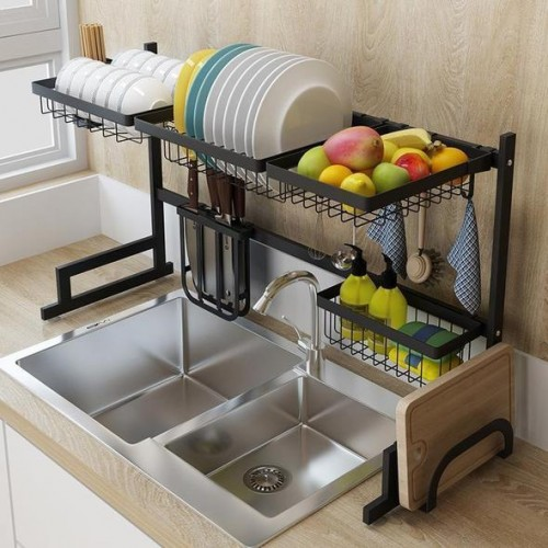 Stainless steel kitchen drainer